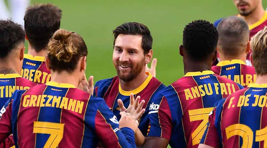 Atletico Madrid vs Barcelona: Picture of Barcelona players