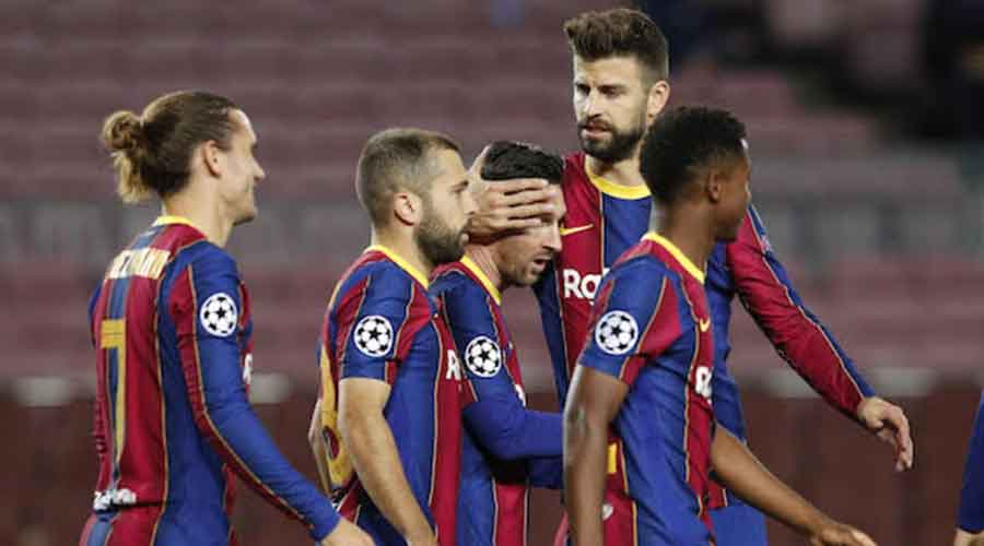 Barcelona vs Real Betis: Picture of Barcelona players