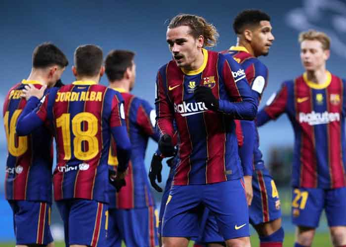 Barcelona vs Athletic Bilbao: Picture of Barcelona players