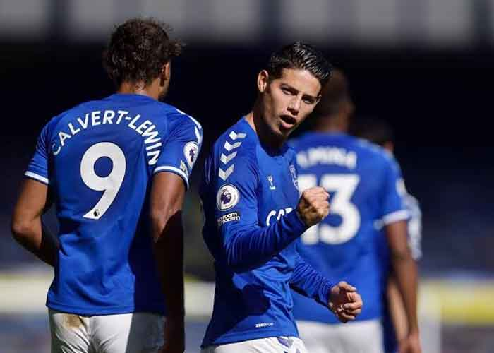 Liverpool vs Everton: Picture of Everton players