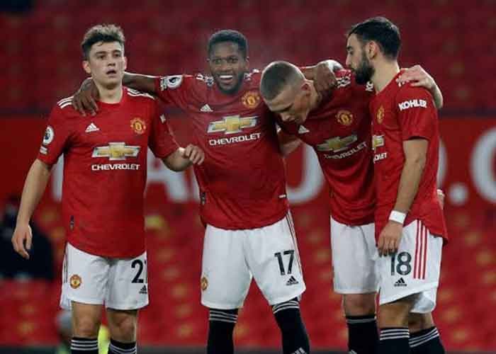 Manchester United vs Everton: Picture of Manchester United players