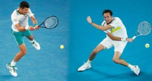 Featured image for Novak Djokovic vs Daniil Medvedev predictions