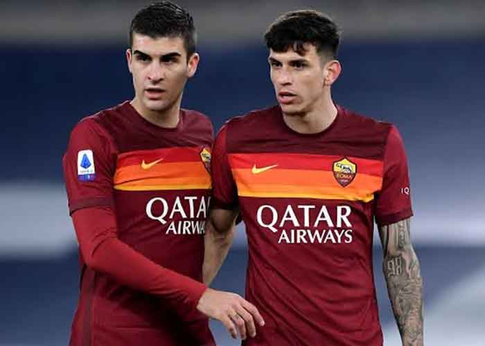 Juventus vs Roma: Picture of Roma players