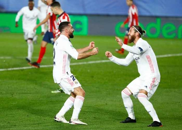 Atletico Madrid vs Real Madrid: Picture of Atletico Real Madrid players