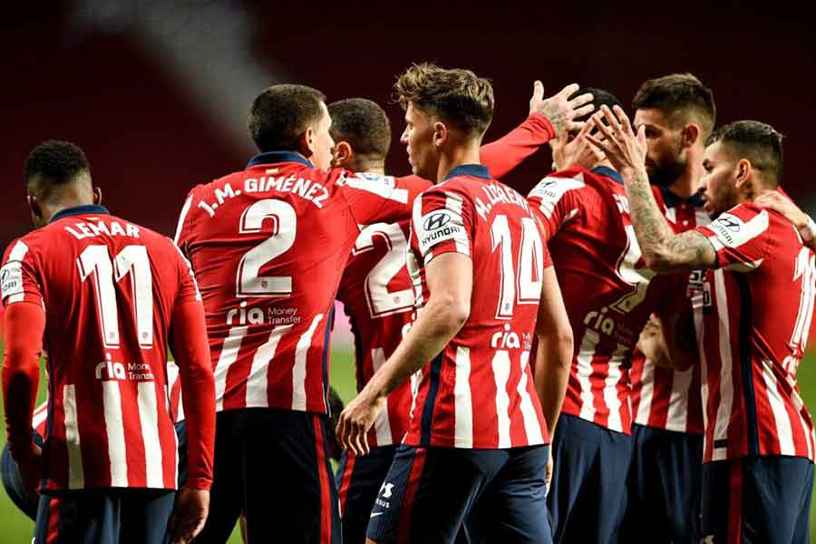 Barcelona vs Atletico Madrid: Picture of Atletico Madrid players