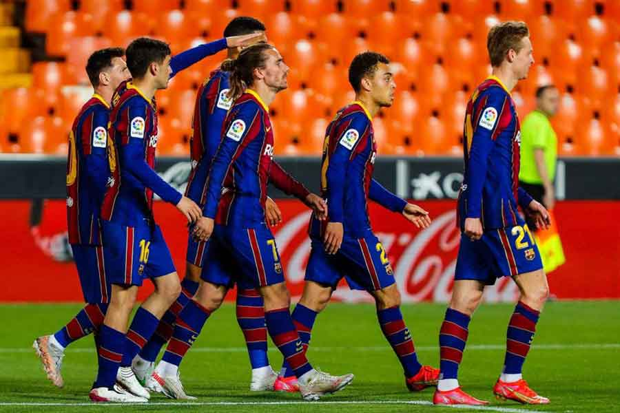 Barcelona vs Atletico Madrid: Picture of Barcelona players